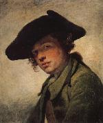 Jean-Baptiste Greuze A Young Man in a Hat oil